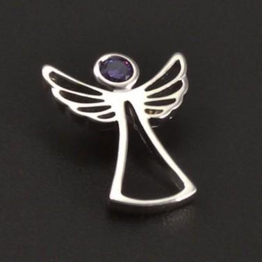 Anděl s fialovým zirkonem 8150 č.1