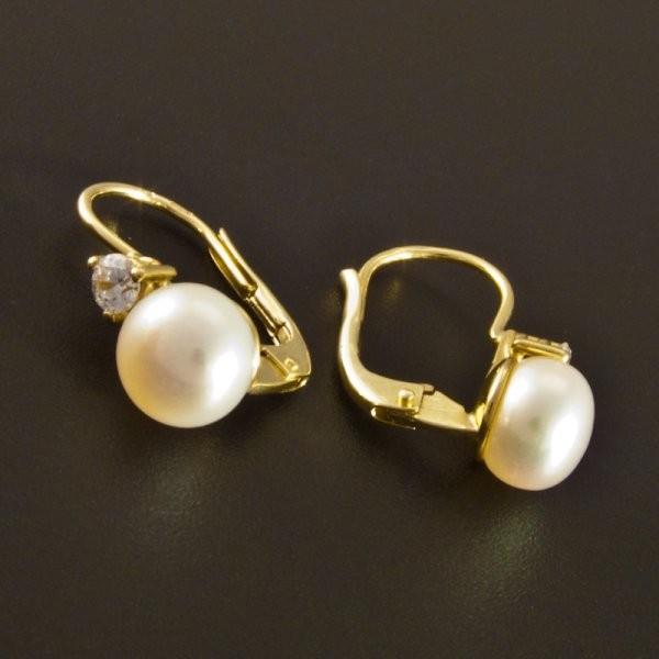 ... Zlaté náušnice perla menší zirkon 2182 č.2 ... 0f0677d7dcc