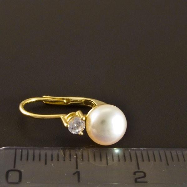 ... Zlaté náušnice perla menší zirkon 2182 č.3 fca445d9f0f