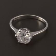 Elegantní zásnubní prsten bílé zlato 3997