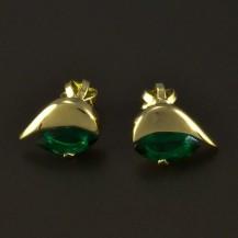 Zlaté náušnice smaragd zelený 4866