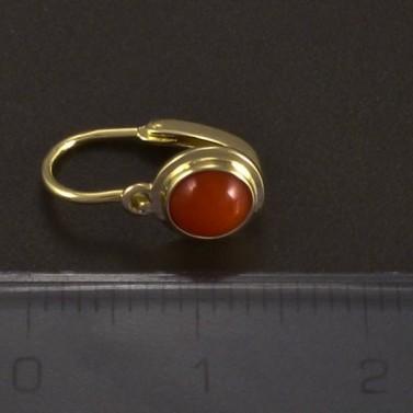 Zlaté dětské náušnice s korálem 5020 č.3