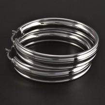 Široké stříbrné kruhy 5839