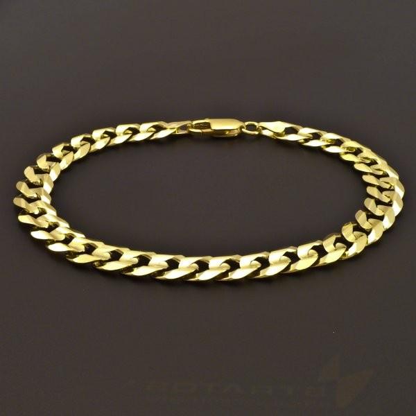 b41778940 Pánský masivní lesklý zlatý náramek | goldpoint.cz