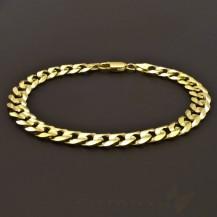 Pánský masivní lesklý zlatý náramek 7067