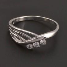 Stříbrný prsten se zirkony 7198