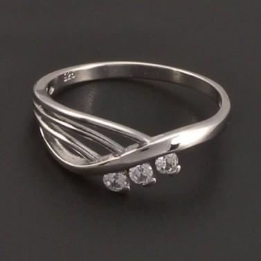 Stříbrný prsten se zirkony 7198 č.1