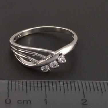 Stříbrný prsten se zirkony 7198 č.2