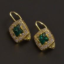 Smaragdové náušnice zlaté 7345