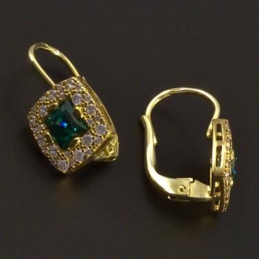 Smaragdové náušnice zlaté 7345 č.2