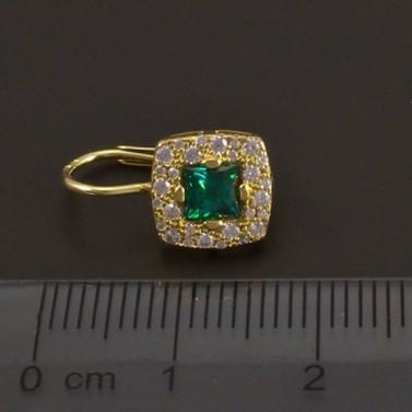 Smaragdové náušnice zlaté 7345 č.3
