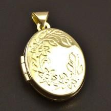 Medailon oválný zlatý 7868