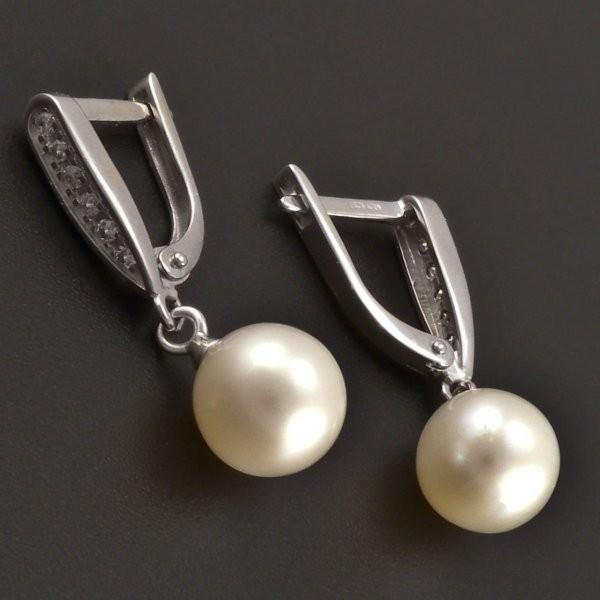 ... Náušnice z bílého zlata s perlou 8136 č.2 ... b12ec3846c3