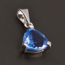 Stříbrný přívěs s modrým akvamarínem 8166