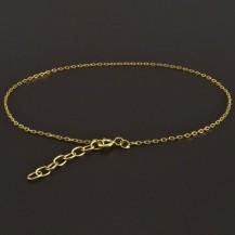 Zlatý náramek na nohu ankr 8170