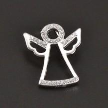 Stříbrný přívěšek anděl se zirkony 8186