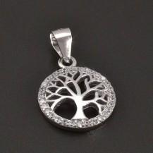 Přívěšek stříbrný strom života malý 8194