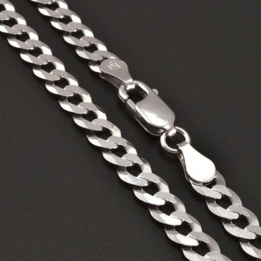 Stříbrný pevný řetízek rhodiovaný 8214 č.1