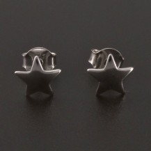 Stříbrné náušnice hvězdičky 8219