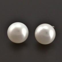 Stříbrné náušnice s perlou 8222