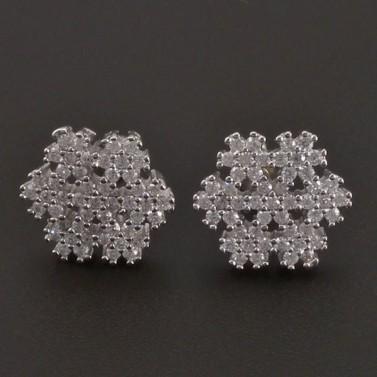 Náušnice sněhová vločka stříbro 8223 č.1