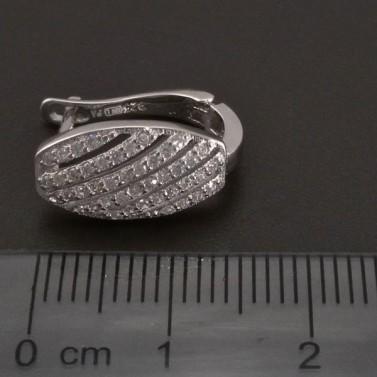 Stříbrné náušnice zirkon řadové 8244 č.3