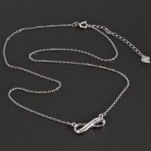 Stříbrný náhrdelník se znakem nekonečno 8256