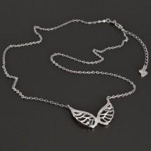Stříbrný náhrdelník andělská křídla 8257