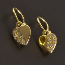Srdíčkové zlaté náušnice 8313