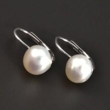 Klasické náušnice s perlou stříbro 8333