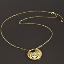 Zlatý náhrdelník s přívěskem 8351
