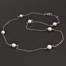 Zlatý náhrdelník s perlami 8356