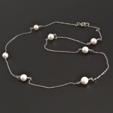 Zlatý náhrdelník s perlami 8356 č.1