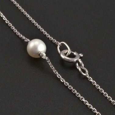 Zlatý náhrdelník s perlami 8356 č.2