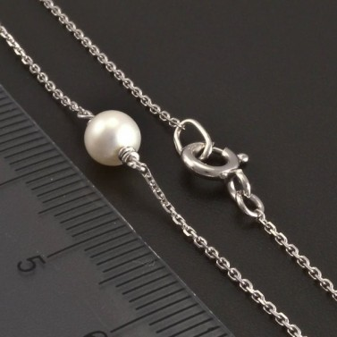 Zlatý náhrdelník s perlami 8356 č.3
