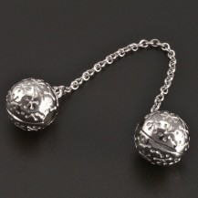 Pojistný stříbrný přívěsek na náramek koule 8373