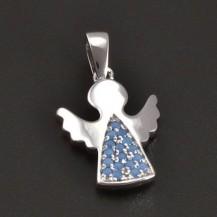 Stříbrný anděl s tyrkysy 8376