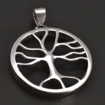 Stříbrný přívěsek strom života lesklý 8378