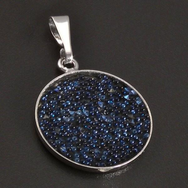 Stříbrný přívěsek Swarovski kruh 8387 č.1 ... ddd406ded5d