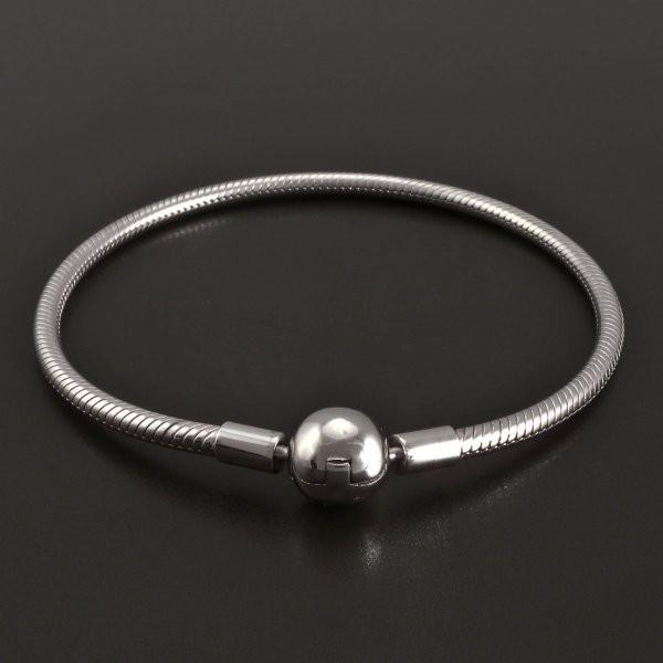 Stříbrný náramek na korálky 8402 č.1 e14c46e93d8