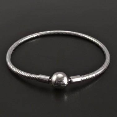 Stříbrný náramek na korálky 8402 č.1