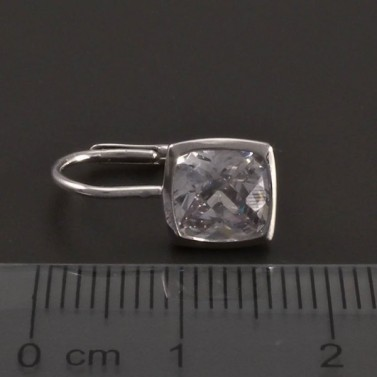 Stříbrné náušnice čtvercový zirkon 8413 č.3