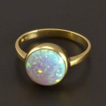 Opálový prsten zlatý 8418