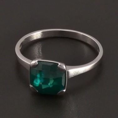 Prsten z bílého zlata se smaragdem 8419 č.1