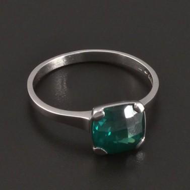 Prsten z bílého zlata se smaragdem 8419 č.2