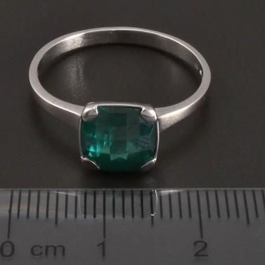 Prsten z bílého zlata se smaragdem 8419 č.3