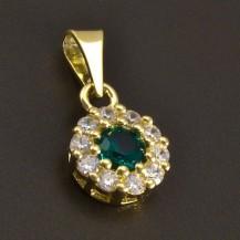 Jemný zlatý přívěs smaragd 8441