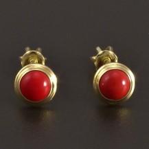 Zlaté pecky červený korál 8442