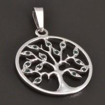 Zelený strom života bílé zlato 8450