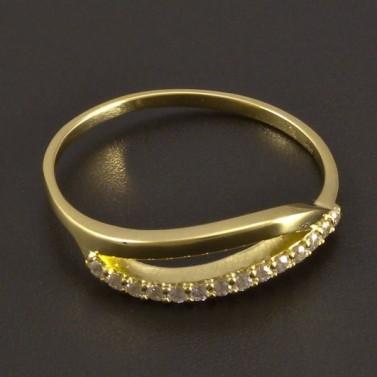 Jemný zlatý prsten se zirkony 8459 č.1